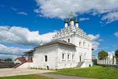 Old Believers Church of St Nicholas on Posada. Kolomna, Old Believers Church of St Nicholas on Posada, 1716 - 1719, landmark royalty free stock images