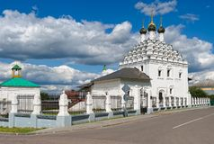 View on Old Believers Church of St Nicholas on Posada. Kolomna, Old Believers Church of St Nicholas on Posada, 1716 - 1719, landmark royalty free stock image
