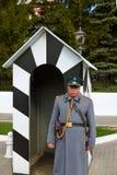 KOLOMNA ROSJA, MAJ, - 03, 2014: Strażnik w postaci 19th ce Fotografia Stock