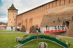 Kolomna Rosja, Październik, - 21, 2017: Marinkin wierza Kremlin Wewnątrz Fotografia Royalty Free