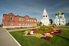 Kolomna, Rosja: Widok Na szkole, katedrze wniebowzięcie I belu, obrazy stock
