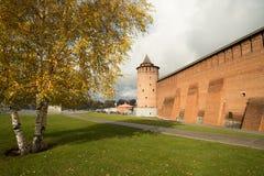 Kolomna, Rusia - 21 de octubre de 2017: Torre de Marinkin de los Wi del Kremlin Imagen de archivo libre de regalías