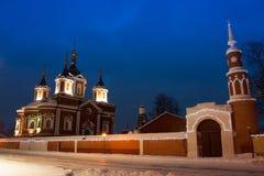 Kolomna, Rusia Monasterio de la hembra de Brusensky de la suposición Fotografía de archivo