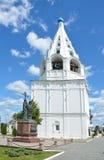 Kolomna Rusland De klokketoren van Tikhvinskaya-kerk royalty-vrije stock foto's