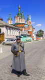 KOLOMNA , RUSSIA-MAY 3 . guard in the form of the 19th century p Royalty Free Stock Images