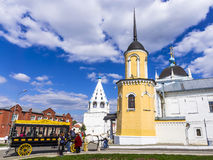 KOLOMNA , RUSSIA-MAY 3. Modern copy of horse-drawn carriages (om Royalty Free Stock Image