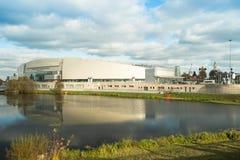 Kolomna, Russia - 22 ottobre 2017: Pattinaggio di velocità del centro di Kolomna Fotografia Stock Libera da Diritti