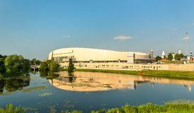 The Kolomna Speed Skating Center and the Kolomenka River - Russia Stock Photography