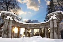 Kolonada Apollo in Pavlovsk stock photo