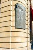 KOLONIA NIEMCY, KWIECIEŃ, - 9, 2008: Brązowa plakieta na cześć th Zdjęcia Stock