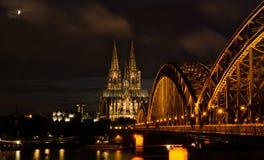 Kolonia, Niemcy w nocy Zdjęcie Royalty Free