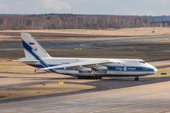 Kolonia nrw, Germany,/- 08 03 19: antonov 124 ładunku samolot przy cologne Bonn lotniskiem Germany zdjęcie royalty free