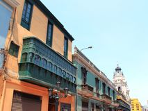 Koloniaal balkon royalty-vrije stock afbeelding
