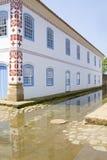 Koloniaal barok huis in Paraty Royalty-vrije Stock Afbeelding
