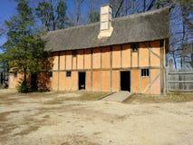 Koloniaal historisch huis stock foto's