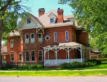 Koloniaal huis stock foto
