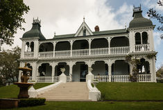 Koloniaal huis in Auckland Royalty-vrije Stock Foto's