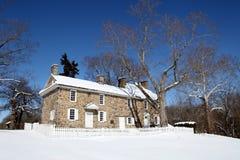 Koloniaal Huis - Washington dat het Park van de Staat, PA kruist Stock Foto's