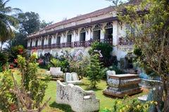 Koloniaal Indisch huis van familie Baraganza Stock Afbeeldingen