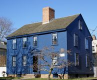 Koloniaal New England Stock Fotografie