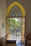 Koloniaal stijlvenster in Mexico Royalty-vrije Stock Afbeelding