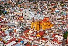 Kolonial arkitektur Guanajuato Mexico Arkivfoto