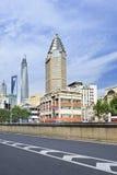 Kolonial arkitektur i centret, Shanghai, Kina Fotografering för Bildbyråer