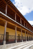 Kolonial arkitektur i San Andres xecul Guatemala Arkivfoto
