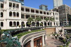 Kolonial arkitektur i Tsimshatsui, Hong Kong Arkivfoto
