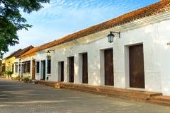 Kolonial arkitektursikt royaltyfria bilder
