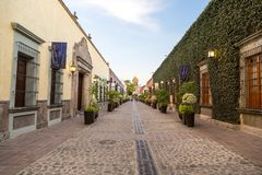 Kolonial gata av tequilaen jalisco royaltyfri fotografi