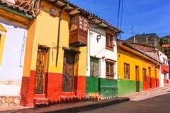 Kolonial gata Bogotà ¡, Colombia Royaltyfri Foto