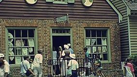Kolonial-historischer Bereich Williamsburgs stock video footage