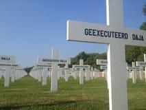 Kolonial kyrkogård i norr Jakarta Arkivfoton