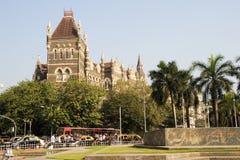 Kolonial orientalisk byggnad på berömd fyrkant i Mumbai Fotografering för Bildbyråer