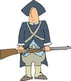 kolonial soldat stock illustrationer