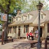 Kolonial-Williamsburg-Architektur lizenzfreie stockfotografie