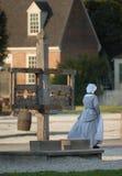 Kolonial Williamsburg reenactor Royaltyfria Bilder