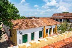 Koloniala byggnader i Mompox Royaltyfria Bilder