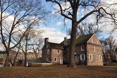 Koloniala Home- Washington som korsar delstatsparken, PA Arkivbild