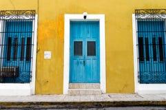 Kolonialarchitektur in Campeche, Mexiko - UNESCO-Welterbstadt lizenzfreies stockfoto