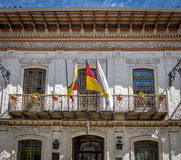 Kolonialbalkon in Cuenca - Ecuador Lizenzfreie Stockbilder