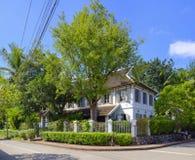 Koloniale architectuur in Luang Prabang Royalty-vrije Stock Afbeelding