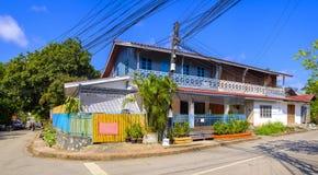 Koloniale architectuur in Luang Prabang Royalty-vrije Stock Foto