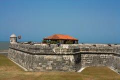 Koloniale Muur van Cartagena DE Indias. Colombia Stock Afbeeldingen