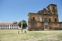 Koloniale Ruïnes van Sao Matias Church in Alcantara Brazilië Stock Afbeeldingen