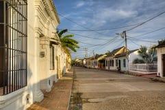 Koloniale straat in Mompox stock fotografie