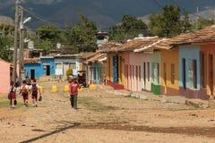 Koloniale Straat in Trinidad, Cuba 2014 stock fotografie