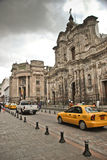 Koloniale straten van Quito royalty-vrije stock foto