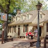Koloniale Williamsburg-architectuur royalty-vrije stock fotografie